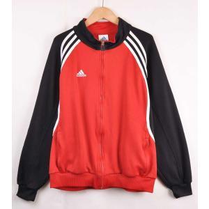ビッグサイズ adidas アディダス ジャージ  レッド×ブラック×ホワイト メンズXL相当|penguintripper