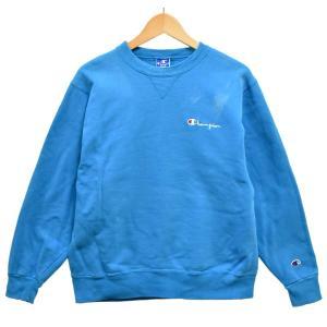 USA製 ヴィンテージ 90年代 青刺繍タグ 後期 チャンピオン プルオーバー スウェット ライトブルー M相当(25597 penguintripper
