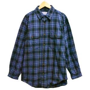 ビッグサイズ カーハート フランネルシャツ 長袖シャツ コットンシャツ ブルー系チェック XL相当 penguintripper
