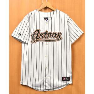 USA製 Majestic MLB ヒューストン・アストロズ ハンター・ペンス ベースボールシャツ ナンバリング ホワイト M相当(37324 penguintripper