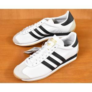 展示品 adidas COUNTRY OG スニーカー ホワイト×ブラック レザー JPN27.0cm 新品(37675-37683|penguintripper