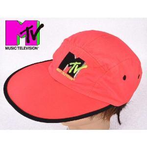 ヴィンテージ 1990年製 / MUSIC TELEVISION / MTV / キャップ / ネオンピンク|penguintripper
