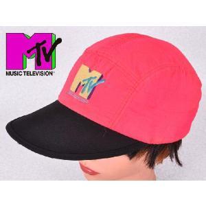 ヴィンテージ 1980年代頃 / MUSIC TELEVISION / MTV / キャップ / ネオンピンク|penguintripper