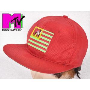 ヴィンテージ 1990年製 / MUSIC TELEVISION / MTV / キャップ / レッド|penguintripper