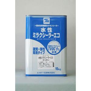 「ベロ付」水性ミラクシーラーエコ (クリヤー) 15Kg/缶