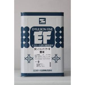 「送料無料」「ベロ付」SKシリコンクリヤーW (艶有) 15Kg/缶