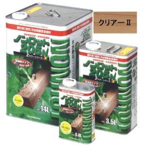 「ベロ付(注ぎ口)」ノンロット205N (ZS-C2:クリアー2) 0.6L/缶 木部 外部 油性 耐UV 防腐 防カビ 防虫 木材保護塗料 ログハウス|penki-ippai