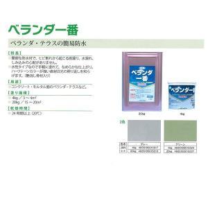 ベランダ一番(グリーン) 20Kg/缶 塗料 ペンキ ベランダ 簡易防水 艶消し 骨材入り 水性 カラー防水材 日本特殊塗料|penki-ippai
