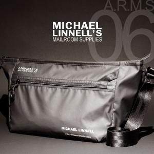 メンズ レディース 10L メッセンジャーバッグ ブラック 黒 MICHAEL LINNELL/マイケルリンネル A.R.M.S MLAC-06|pennepenne