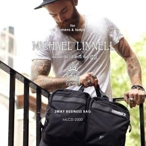 メンズ レディース 3WAY ビジネスバッグ ブリーフケース ショルダーバッグ リュックサック MICHAEL LINNELL マイケルリンネル MLCD-2000 pennepenne