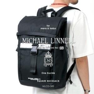 メンズ レディース スクエアリュックサック リュックサック MICHAEL LINNELL マイケルリンネル One Buckle MLCD-300|pennepenne