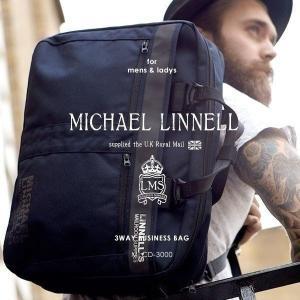 メンズ レディース 3WAY ビジネスバッグ ブリーフケース ショルダーバッグ リュックサック MICHAEL LINNELL マイケルリンネル MLCD-3000 pennepenne