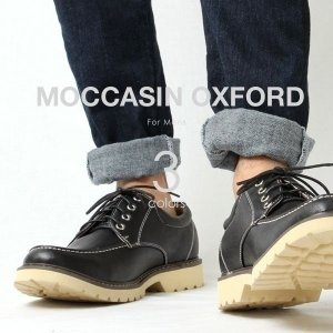 オックスフォード ブーツ モカシン メンズ ローカット 短靴...