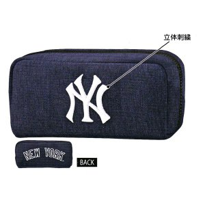 ニューヨークヤンキース BOXペンケース 【ネイビー】 クラックス 12978|penport