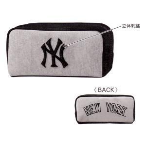 ニューヨークヤンキース BOXペンケース 【グレー】 クラックス 12979|penport