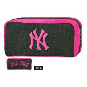 ニューヨークヤンキース BOXペンケース 【ピンク】 クラックス 12980|penport