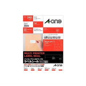 ●パソコンプリンタ&ワープロラベルシール(プリンタ兼用) マット紙(A4判) 20枚入 エーワン 2...