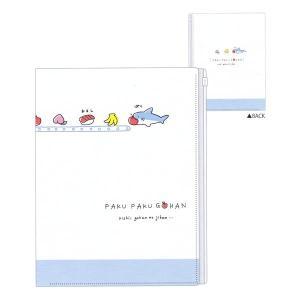 ぷちキャラコレクション スライダー付き6ポケットクリアファイル 【ぱくぱくごはん/サメ】 クーリア 45508|penport