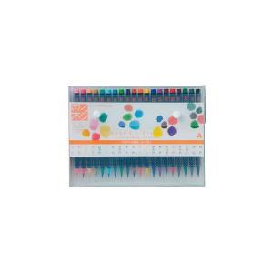 水彩毛筆 彩【20色セット】 あかしや CA200/20V|penport