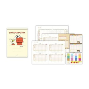 スヌーピー シール付き家計簿 【赤い小屋】 ホールマーク EFK-675-660|penport