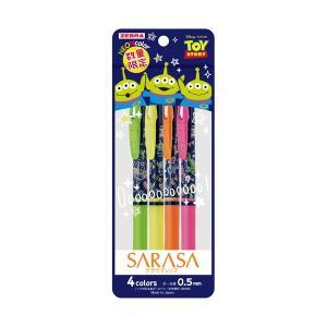 サラサクリップ トイ・ストーリー 4色セット ノック式ジェルボールペン 0.5mm ゼブラ JJ29-TS-4C