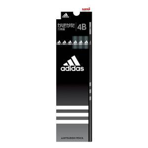 アディダス かきかた鉛筆 黒 【4B】 三菱鉛筆 K55884B