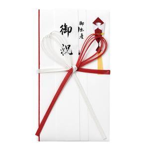 コットン金封 赤白5本花結び 短冊3枚入 マルアイ キ-CH106