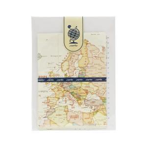 世界地図柄 レターセット 【シック】  東京カートグラフィック LTCC|penport
