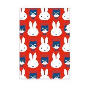 ミッフィー A4クリアホルダー(シングル)【レッド/miffy and cat】 クツワ MF577D penport