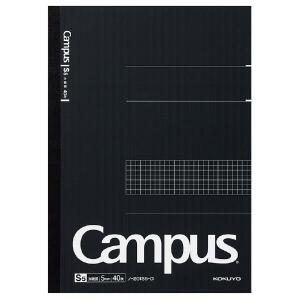 大人キャンパスノート(5mm方眼罫)【黒】 スタンダード 1号(A4) 40枚 コクヨ ノ-201S5-D|penport