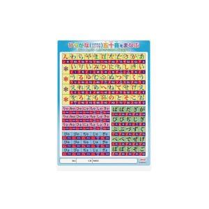 学習下敷 カラー五十音下敷(B5判) 共栄プラスチック No.8300-B5-1 【メール便OK】