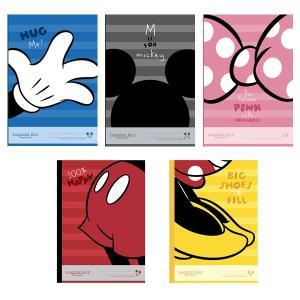 ディズニー ロジカルエアーノート(軽量ノート) 【ミッキー&ミニー・パーツ】 (5冊パック) A罫・7mm罫 ナカバヤシ ノS-135A-5P 【メール便OK】|penport