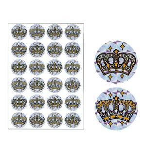 パリオシール 王冠シール(ホログラムシール) オキナ PS1435 【メール便OK】|penport