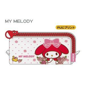 ジップ大ペンケース 【MY MELODY バラ】 デルフィーノ SA-34863|penport