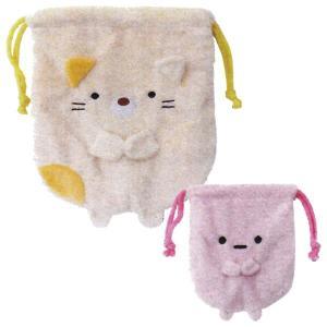 すみっコぐらし 巾着2Pセット ねこセット ねこ+たぴおかピンク ユニック SG-0044CTの商品画像|ナビ