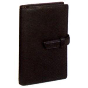 ダ・ヴィンチ システム手帳 オイルレザー ポケットサイズ リング14mm DP802B ブラック 53ADP802B (9000)|penworld
