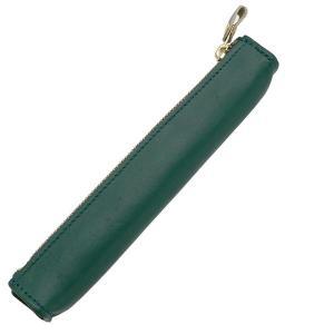 ライフ 本革 ペンケース 小 1本用 SA316C 緑 SA316C 10695 |penworld