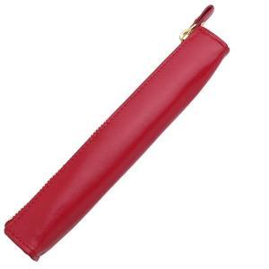 ライフ 本革 ペンケース 小 1本用 SA316E 赤 10697 |penworld
