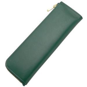 ライフ 本革 L型ペンケース 緑 SA321C 10700 (2200)|penworld