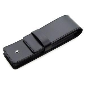 ペンケース 革 モンブラン MONTBLANC 30302 2本差 ブラック U0014311|penworld