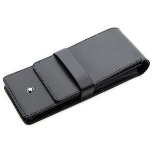 ペンケース 革 モンブラン MONTBLANC 30303 3本差 ブラック U0014313|penworld