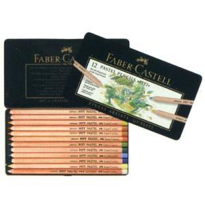 ファーバーカステル FABER-CASTELL ピット パステル鉛筆 112112@ 12色(缶入) 11280 (3600)|penworld