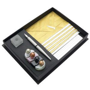 ルビナート カード&封筒セット 4061-6800 メタリック 4色カラーインク/ウッディホルダーペン 129F4061-6800 (6800)|penworld