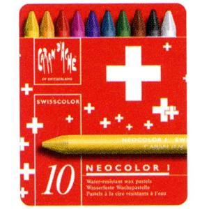 クレヨン カランダッシュ CARAND'ACHE クレヨン スイスカラー 7000-710 10色(缶入)|penworld