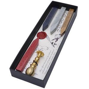 ルビナート シーリングセット 9000-5600  真鍮製ハンドル&シールと4カラーシーリングワックス 13730 (5600) penworld