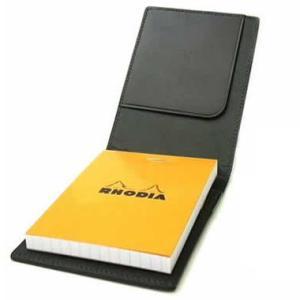 ロディア RHODIA メモカバー ブロックロディア レザーカバー No.11 ブラック IOL2807BK 14664  (3500) penworld