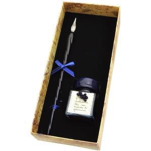 ガラスペン ブランド / アルバインターナショナル ガラスペン&香り付き30mlインク セット GL_004 ブルー 192SGL_004 (4500)|penworld