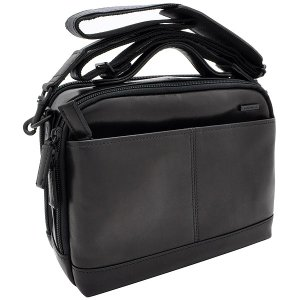 イケテイ KARUWAZA 鞄 ウイング 横型手付ショルダーバッグ ブラック 小 18163-BLK 17737 (28500)|penworld