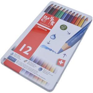カランダッシュ CARAND'ACHE 色鉛筆 ファンカラー 水溶性色鉛筆 1288-312 ファンカラー12色セット(缶入)  (2280)|penworld