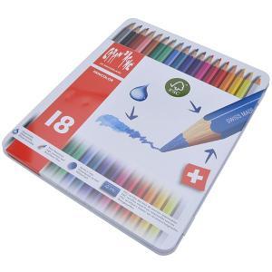 カランダッシュ CARAND'ACHE 色鉛筆 ファンカラー 水溶性色鉛筆 1288-318 ファンカラー18色セット(缶入)  (3420)|penworld